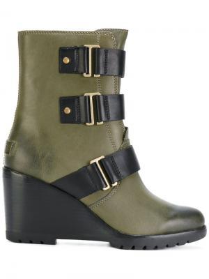 Ankle length boots Sorel. Цвет: зелёный
