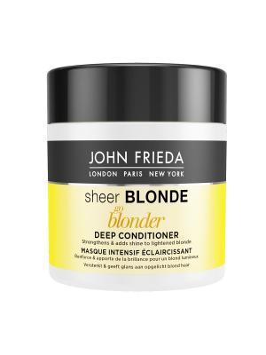 Маска для светлых волос Sheer Blonde Go Blonder, 150 мл John Frieda. Цвет: белый