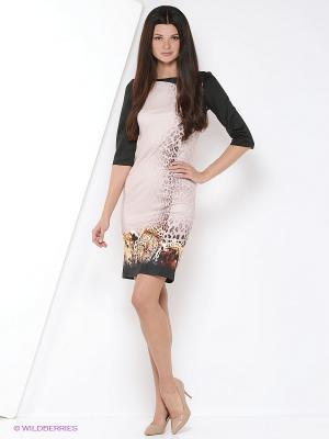 Платье ADZHEDO. Цвет: коричневый, черный