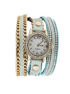Браслет-часы Olere. Цвет: золотистый, бирюзовый, голубой