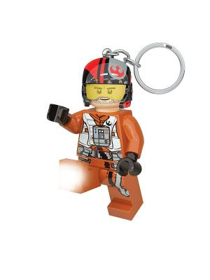 Брелок-фонарик для ключей LEGO Star Wars-По Дэмерон Lego.. Цвет: черный, красный, оранжевый