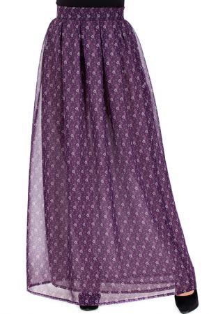 Юбка Mannon. Цвет: фиолетовый