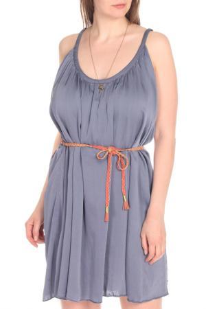 Летнее платье на бретелях с поясом Scotch&Soda. Цвет: dark blue, темно-синий
