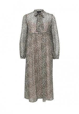 Платье Atos Lombardini. Цвет: коричневый