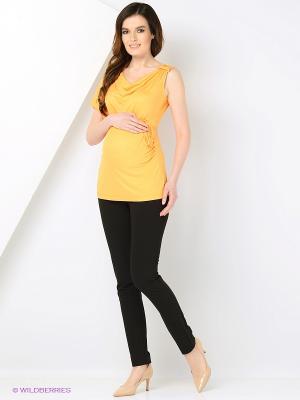 Блуза MARY MEA. Цвет: горчичный