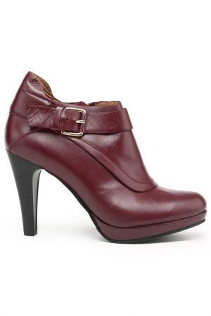Ботинки DERIMOD. Цвет: бордовый