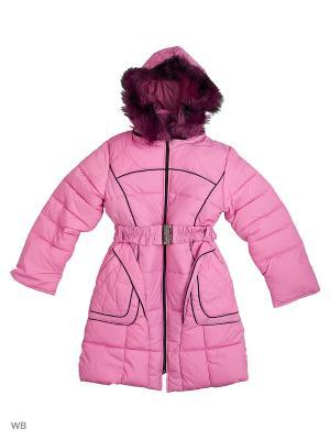 Пальто утепленное для девочки Кантик Пралеска. Цвет: розовый