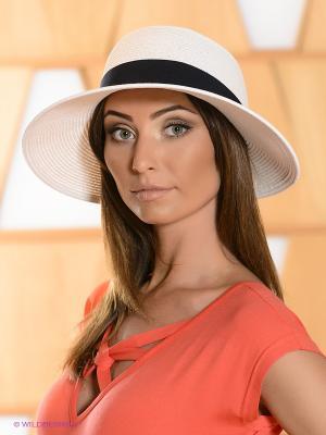 Шляпа Fabretti. Цвет: белый, темно-синий