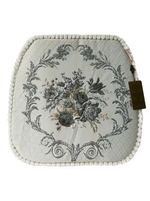 Сидушки, Подушка для стула Гобелен Медальон, 45х45см KAZANOV.A.. Цвет: серебристый