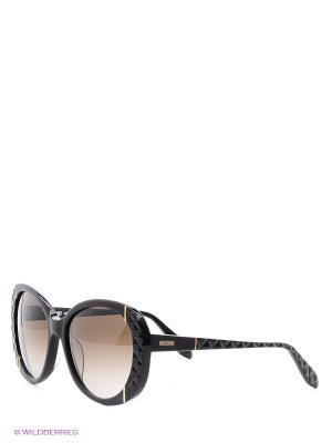 Очки солнцезащитные MO 742S 01 MOSCHINO. Цвет: черный