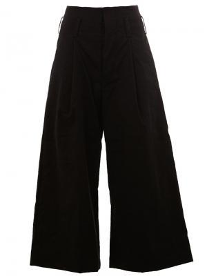 Широкие брюки Uma Wang. Цвет: чёрный