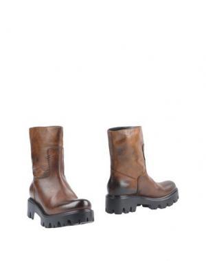 Полусапоги и высокие ботинки JFK. Цвет: коричневый