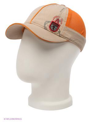 Бейсболка Maxval. Цвет: бежевый, оранжевый