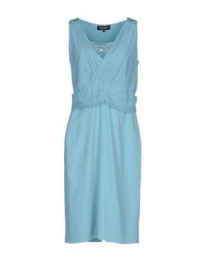 Платье до колена MARTA PALMIERI. Цвет: небесно-голубой