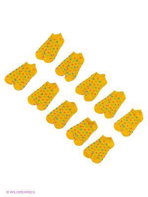 Носочки детские Тульский трикотаж (комплект 10 пар). Цвет: желтый