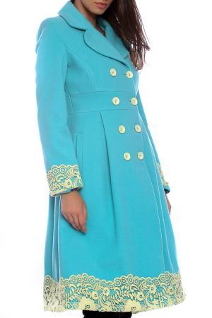 Coat Moda di Chiara. Цвет: turquiouse