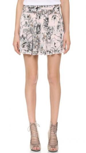 Плиссированная юбка Twelfth St. by Cynthia Vincent. Цвет: розовый с цветочным рисунком