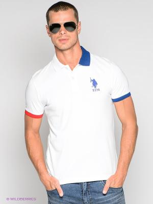 Футболка-поло U.S. Polo Assn.. Цвет: белый
