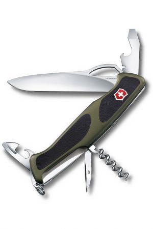 Нож перочинный 11 функций Victorinox. Цвет: зеленый