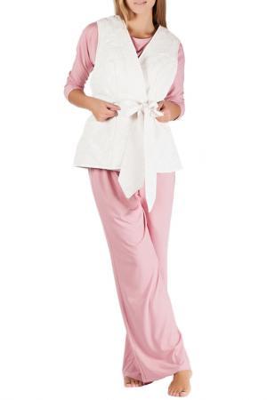 Комплект домашний MONNA MURR. Цвет: розово-молочный