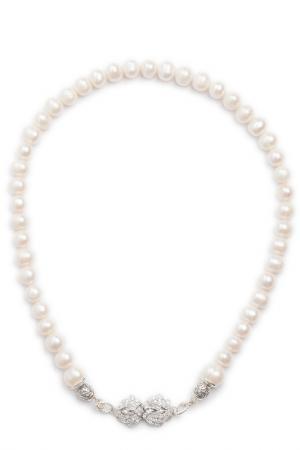 Колье Patricia Bruni. Цвет: белый, серебряный, молочный