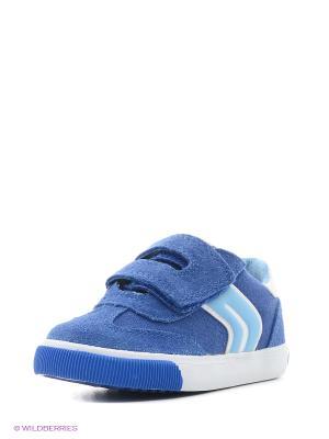 Кроссовки GEOX. Цвет: синий, голубой