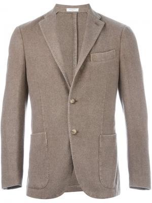 Пиджак с застежкой на две пуговицы Boglioli. Цвет: телесный