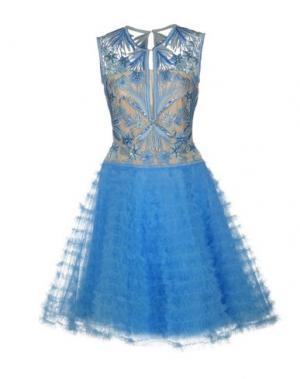 Платье до колена NAEEM KHAN. Цвет: лазурный