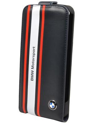 Чехол BMW для iPhone 5S/SE Motorsport Flip Navy blue. Цвет: темно-синий