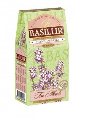 Чай Basilur Чайный Каприз зелёный байховый листовой с чабрецом, 75 гр, 1 КАРТОННАЯ ПАЧКА. Цвет: салатовый