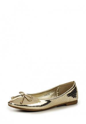 Балетки Donna Moda. Цвет: золотой