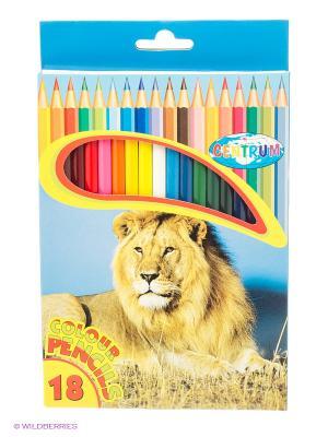 Цветные карандаши, 18 цветов длинные Centrum. Цвет: голубой
