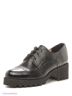 Туфли ESTELLA. Цвет: темно-серый, черный
