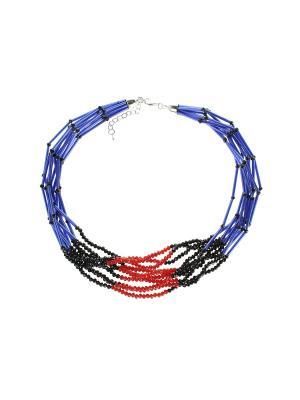 Колье Olere. Цвет: синий, красный, черный