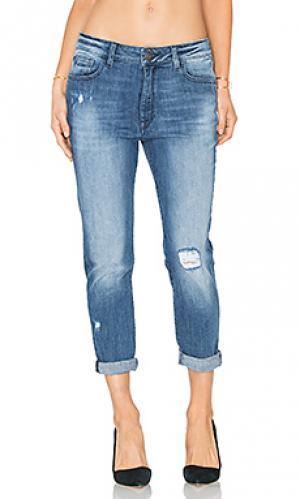 Зауженные джинсы бойфренд с низки шаговым швом no. 6 DL1961. Цвет: none