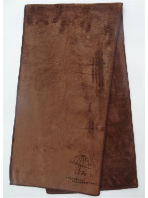 Полотенце для фитнеса A and C Collection. Цвет: коричневый