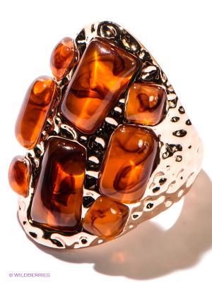 Кольцо Happy Garnets. Цвет: золотистый, оранжевый