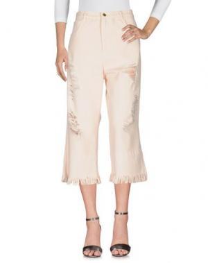 Джинсовые брюки MARCO BOLOGNA. Цвет: розовый