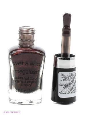 Лак для ногтей megalast salon nail color, тон under your spell Wet n Wild. Цвет: коричневый