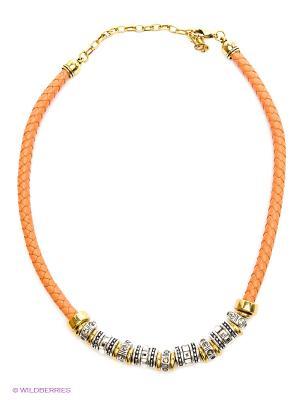 Колье Krikos. Цвет: оранжевый, золотистый, серебристый