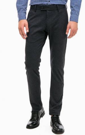 Серые зауженные брюки с карманами Strellson. Цвет: серый