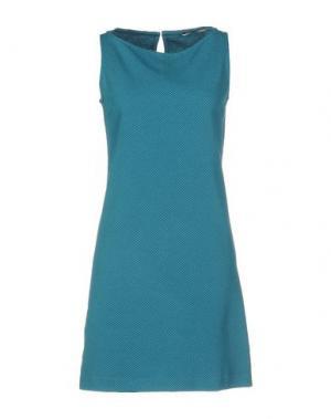 Короткое платье CIRCOLO 1901. Цвет: цвет морской волны