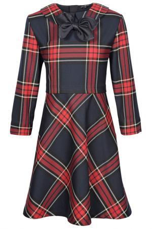 Платье Junior Republic. Цвет: красный, клетка