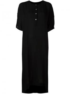 Платье с застежкой на пуговицы Raquel Allegra. Цвет: чёрный