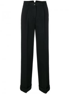 Классические расклешенные брюки Ermanno Scervino. Цвет: чёрный