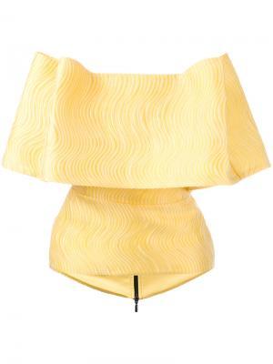 Блузка с оборками Maticevski. Цвет: жёлтый и оранжевый