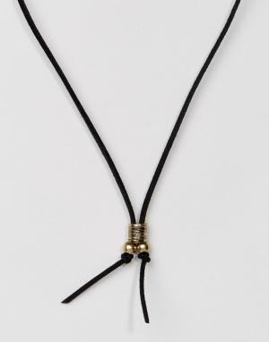 Classics 77 Черное ожерелье из искусственной замши. Цвет: черный