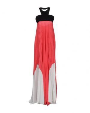 Длинное платье 1-ONE. Цвет: коралловый