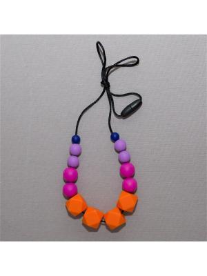 Бусы Краски лета. Цвет: темно-синий, малиновый, фиолетовый, оранжевый
