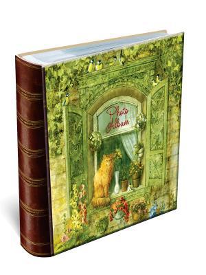 Фотоальбом КОТИК НА ОКНЕ (24*29см, 20 магнитных листов) Magic Home. Цвет: зеленый